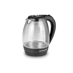 GOURMETmaxx Wasserkocher, Glas-Wasserkocher mit LED-Beleuchtung