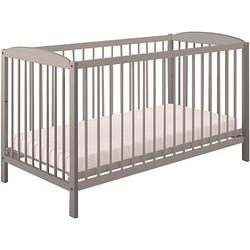 Kinderbett Simple 101 aus Birkenholz, grau, 3022-15