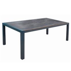 Acamp Extensio Fix Gartentisch 180x98cm Aluminium/HPL Dunkelgrau