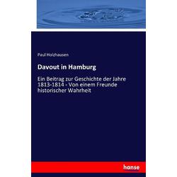 Davout in Hamburg als Buch von Paul Holzhausen