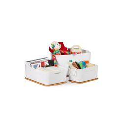 relaxdays Aufbewahrungsbox Aufbewahrungsboxen mit Deckel im Set