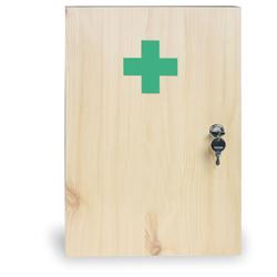 Holz-wandverbandskasten, 43 x 30 x 14 cm, fichte, ohne inhalt