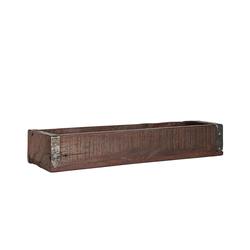 BigDean Holzkiste Ordnungsbox Allzweckkiste mit Metallbeschlag Antik Altholz 35 x 12 x 7 cm jede Kiste ein Unikat 12 cm x 7 cm