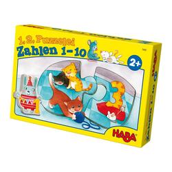 Haba Puzzle 1,2 Puzzelei Zahlen 1-10, 20 Puzzleteile