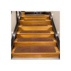 Stufenmatte 15er Set Stufenmatten Treppenteppich Stufenteppich, COSTWAY, Selbstklebend, für Treppen, 76x20cm, rutschfest für Kinder, Senioren & Hunde