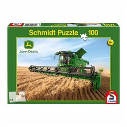 Schmidt Spiele Puzzle John Deere Mähdrescher S690, 100 Puzzleteile