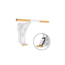 Capital Sports Klimmzugstange Light Klimmzugstange Stahl Holz Smartphone-Halterung weiß