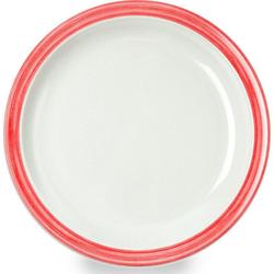 WACA Teller Bistro, (4 Stück), Melamin, 23,5 cm rot