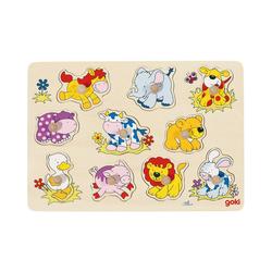 goki Steckpuzzle Steckpuzzle Tierkinder II, Puzzleteile