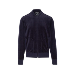Jockey® Velour Lounge Jacket - S - Navy