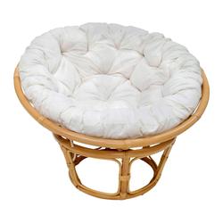 Sessel 'Papasan' honig, Ø 100 cm 100% Baumwolle, Rattan