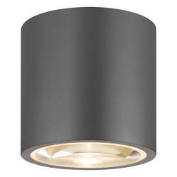 click-licht Außen-Wandleuchte Deckenleuchte A-353380 aus Aluminium und Lupenglas, Aussenlampe, Aussenwandleuchte, Outdoor-Leuchte grau