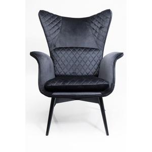 Kare Design Sessel Tudor Velvet Schwarz