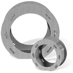 Laternen rund 3D-Wellpappe 21cm VE=10 Stück sonnengelb