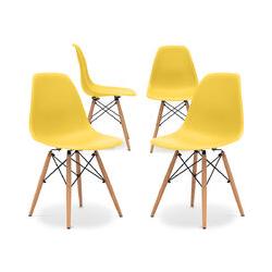 Premium Deswick Stuhl - Matt - Pack von 4 Gelb
