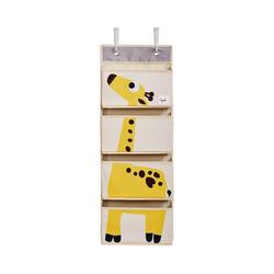 3 Sprouts Aufbewahrungsbox Wandaufbewahrung Bär, 94 x 33 cm gelb