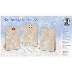 Adventskalender-Set Geschenktüten Natural 12x19x6cm
