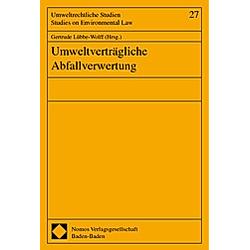 Umweltverträgliche Abfallverwertung - Buch
