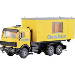 Kibri 16310 H0 Mercedes Benz LP Wechsellader mit Gleisbau-Container