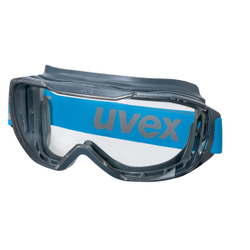 uvex megasonic Vollsichtbrille, Revolutionäre Vollsichtbrille mit maximal optimiertem Sichtfeld, Farbe: blau/anthrazit