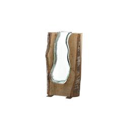 LEONARDO Tischvase Holzvase 36 cm Casolare