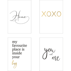 POSTORO Poster You And Me, Spruch Poster, Typografie, gold