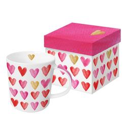 PPD Tasse Aquarell Hearts Gold 350 ml