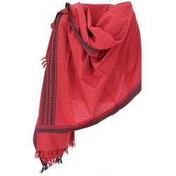 Guru-Shop Halstuch Indischer Schal Stola, Ethno Tuch/Decke - rot rot