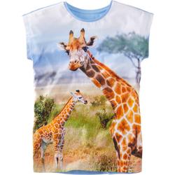 T-Shirt Fotodruck, blau, Gr. 176/182 - 176/182 - blau