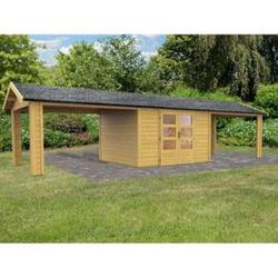 Woodfeeling Tastrup 7 Gartenhaus, inkl. 2 Dachausbauelementen