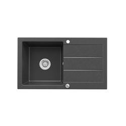 Bergstroem Küchenspüle Bergström Granit Verbundspüle Küchen Einbau Spüle + Siphon Schwarz