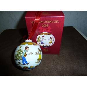 Hutschenreuther Weihnachten Porzellankugel 2008, In Ovp Weihnachtskugel