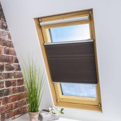 LIEDECO Universal-Dachfenster-Wabenplissee, Verdunklung, Farbe braun