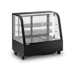Vitrine Réfrigérée Présentoir Pâtisseries Froid À Poser Noir 100L LED 2-10°C