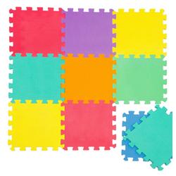 LittleTom Puzzlematte Baby Puzzlematte ab 0 Kinder Spielmatte Uni, 9 Puzzleteile, EVA Krabbelmatte Uni Farben