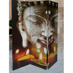 Grasekamp Paravent 3tlg Raumteiler Trennwand  Buddha II