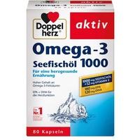 Doppelherz Aktiv Seefischöl Omega-3 1000 Kapseln 80 St.