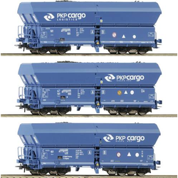 Roco 76046 3-tlg. Set: Selbstentladewagen, PKP Cargo