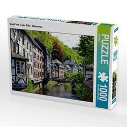 Eine Perle in der Eifel - Monschau Lege-Größe 64 x 48 cm Foto-Puzzle Bild von Arno Klatt Puzzle