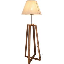 Guru-Shop Stehlampe Stehleuchte, handgemacht, Teakholz,.. Ø 40 cm x 40 cm x 85 cm x 40 cm