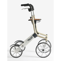 Trust Care Outdoor Rollator Let's Go Out beige/silber