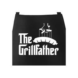 MoonWorks Grillschürze The Grillfather Grill-Schürze für Männer und Paten am Grill Moonworks®, mit kreativem Aufdruck
