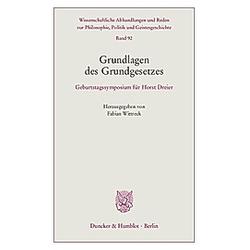 Grundlagen des Grundgesetzes. - Buch