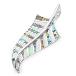 Monkimau Kettenanhänger Damen Neuseeland Farn Anhänger Kette 925 Silber