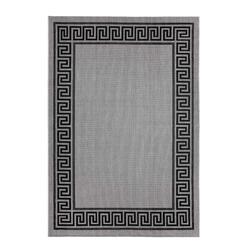 Outdoor Teppich Griechische Bordüre - Grau