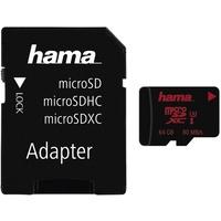 Hama microSDXC 64GB UHS-I U3 + SD-Adapter/Mobile