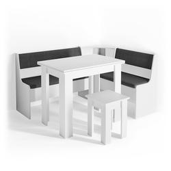 Vicco Sitzgruppe Eckbankgruppe ROMAN weiß Esszimmergruppe Küchen