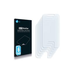 Savvies Schutzfolie für Motorola Flipside, (6 Stück), Folie Schutzfolie klar