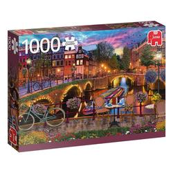 Jumbo Spiele Puzzle 18860 David Maclean Die Grachten von Amsterdam, 1000 Puzzleteile