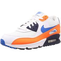 Nike Men's Air Max 90 Essential white-orange-navy/ white-navy, 45